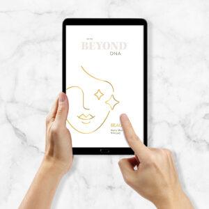 Beyond DNA Beauty - Analyse als PDF auf Tablet