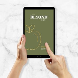 Beyond DNA Nutrition - Analyse als PDF auf Tablet