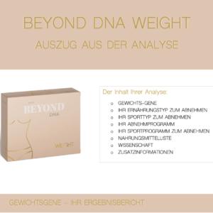 Beyond DNA Weight - Auszug aus der Analyse Weight