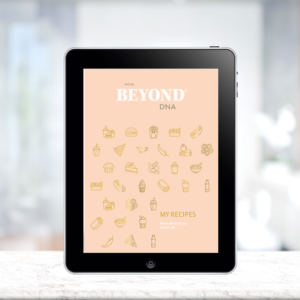 Beyond DNA MY RECIPES in Tablet