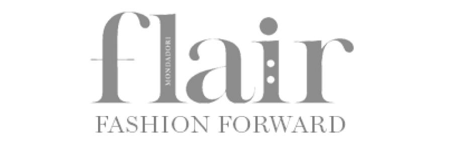 Logo der Zeitschrift flair in s/w