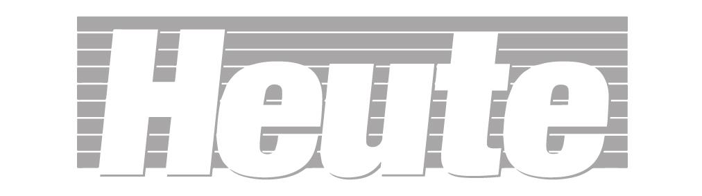 Logo der Tagesezeitung heute in s/w
