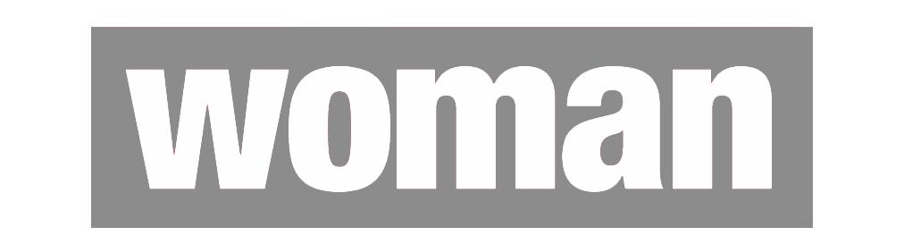 Logo der Zeitschrift Woman in s/w