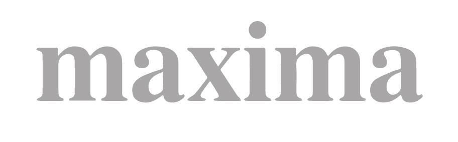 Logo der Zeitschrift maxima in s/w